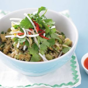 Cashew and prawn fried rice