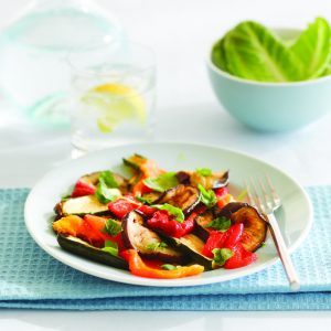 Chargrilled vegetables with mustard dressing