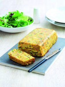 Cheesy ham 'n' veg loaf