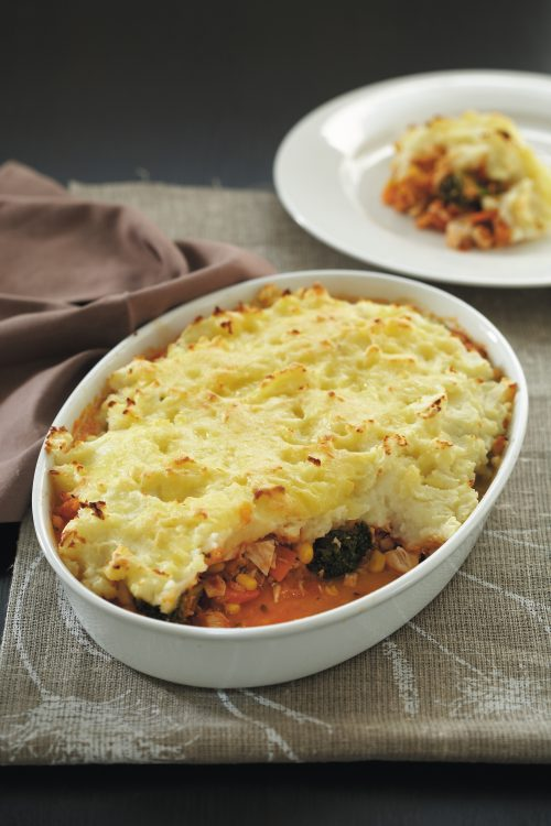 Chicken and lentil shepherd's pie