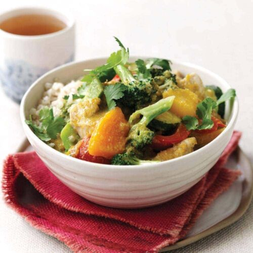 Chicken and pumpkin green curry