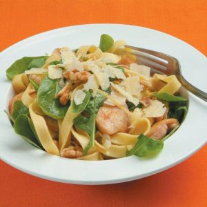 Chicken and walnut tagliatelle