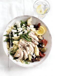 Chicken antipasto risoni salad