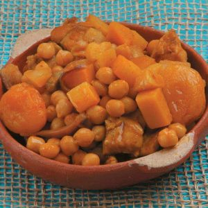Chicken, apricot and chickpea tagine