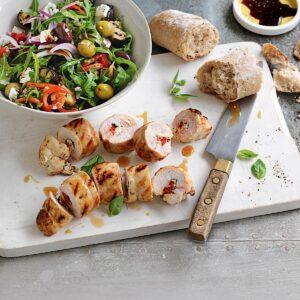 Chicken, feta and basil involtini