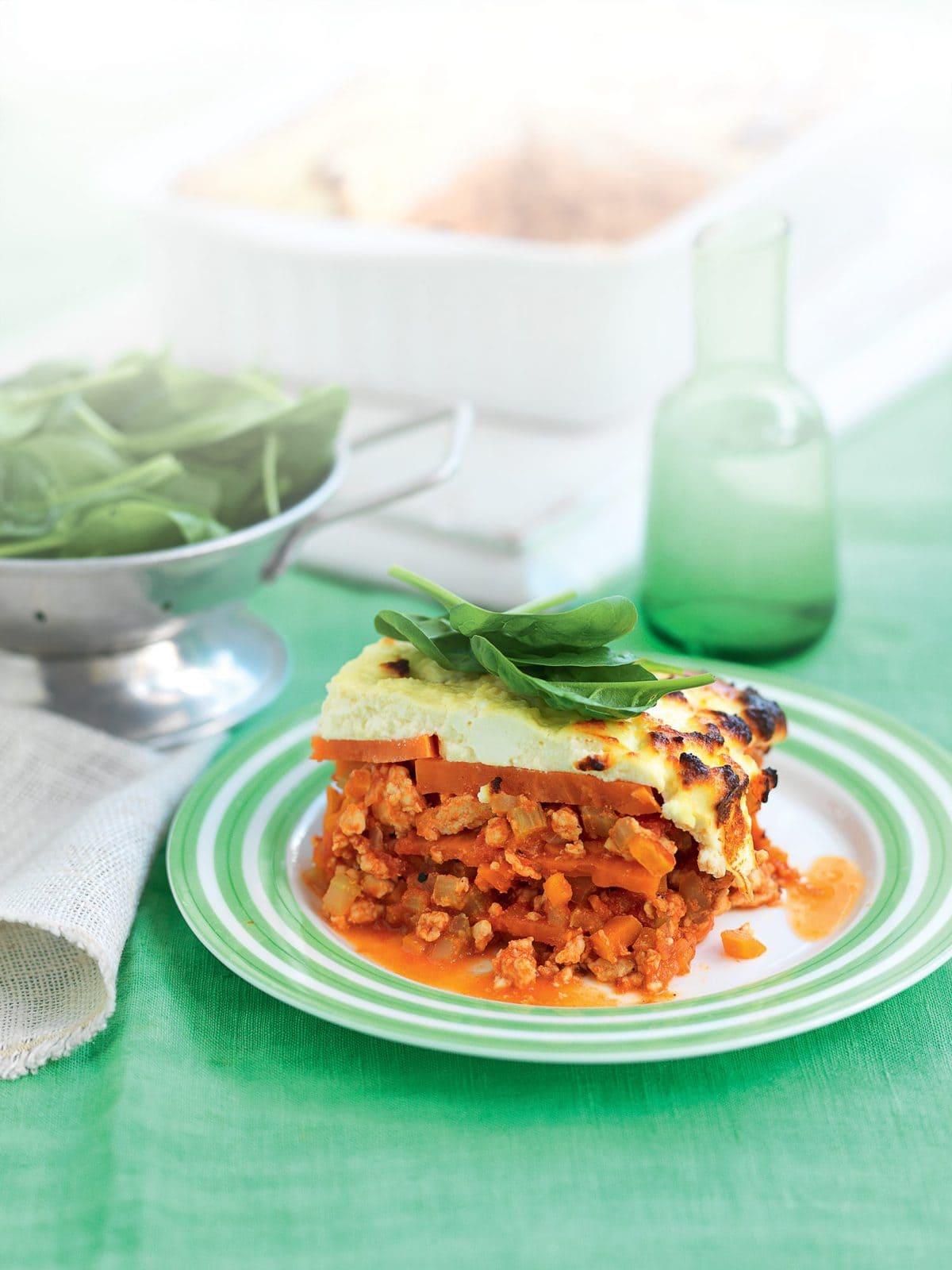 Chicken, kumara and ricotta lasagne