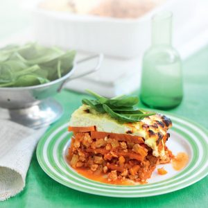 Chicken, kumara and ricotta lasagne