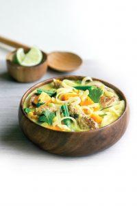 Chicken laksa-style soup