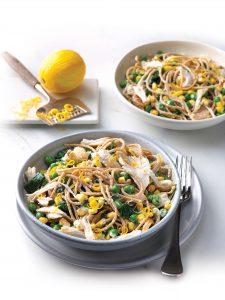 Chicken, pea and ricotta pasta