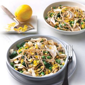 Chicken, pea and ricotta pasta