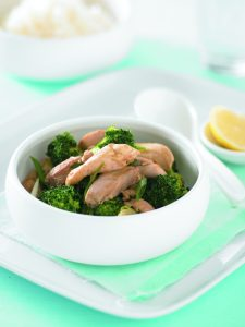 Chicken and broccoli red curry stir-fry