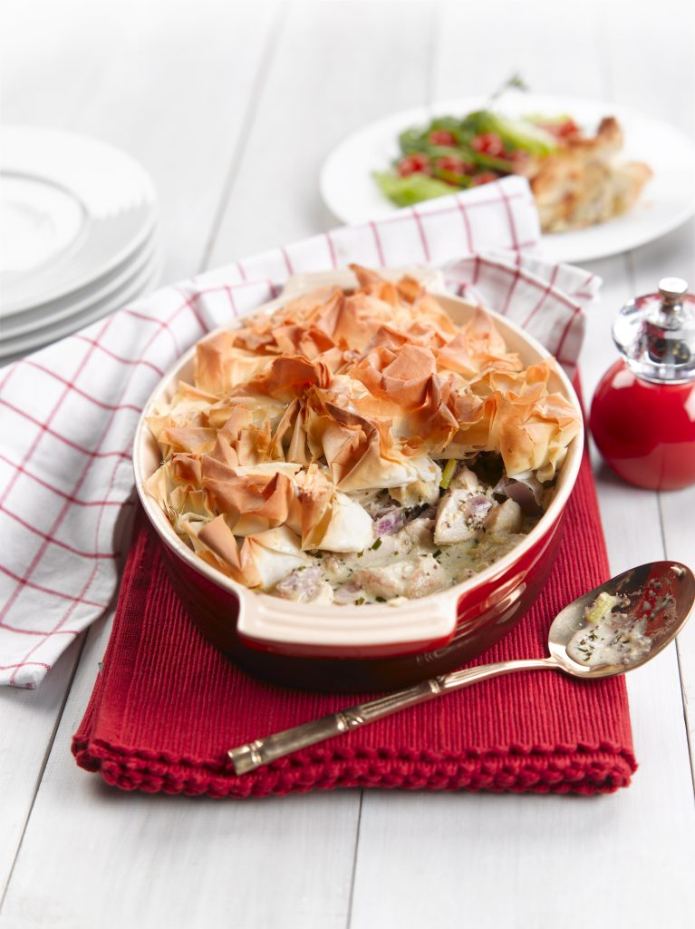 Chicken and tarragon pie