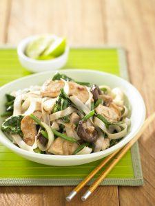 Chicken, broccoli and mushroom stir-fry