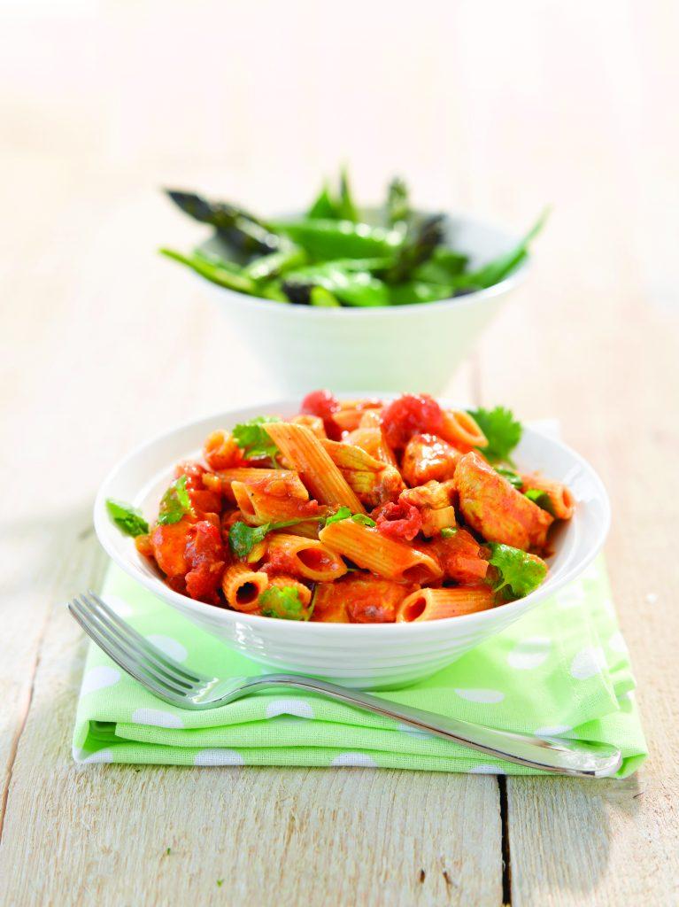 Chicken korma tomato pasta