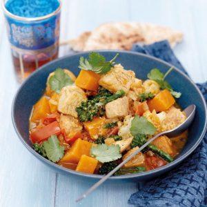 Chicken, kumara and cauliflower curry
