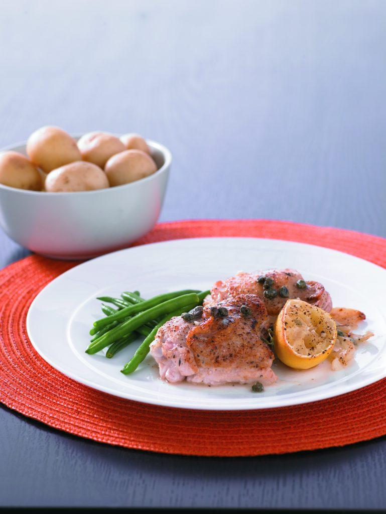 Chicken, lemon and thyme casserole