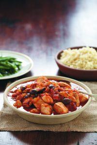 Chicken, tomato and olive casserole