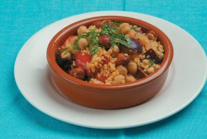 Chickpea and roast vegetable couscous