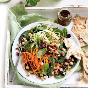 Chickpea, nut and cranberry salad