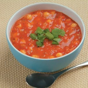 Chickpea, tomato and bacon soup
