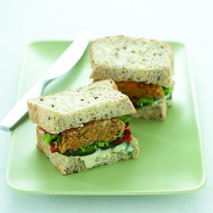 Chickpea, pumpkin and walnut burgers