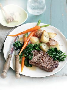 Chilli and fennel steak with crisp potatoes