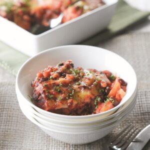Chilli bean and potato bake