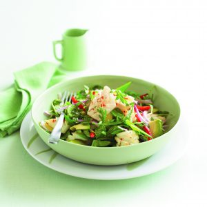 Chilli lime squid salad