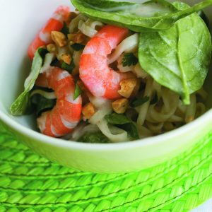 Chilli prawn noodles with coconut dressing