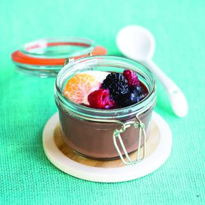 Chocolate custard jars