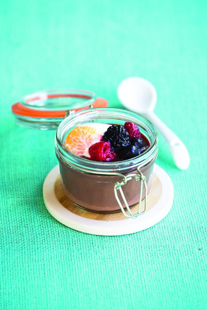 Chocolate custard jars