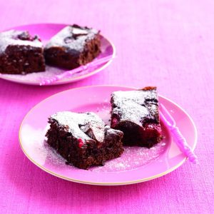 Chocolate, raspberry and Toblerone brownies