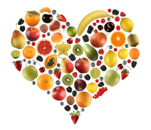 Heart made of cholesterol-lowering foods