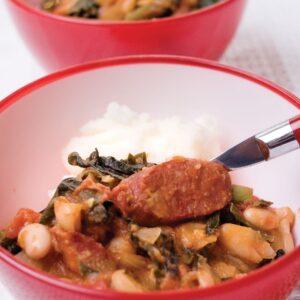 Chorizo and bean cassoulet