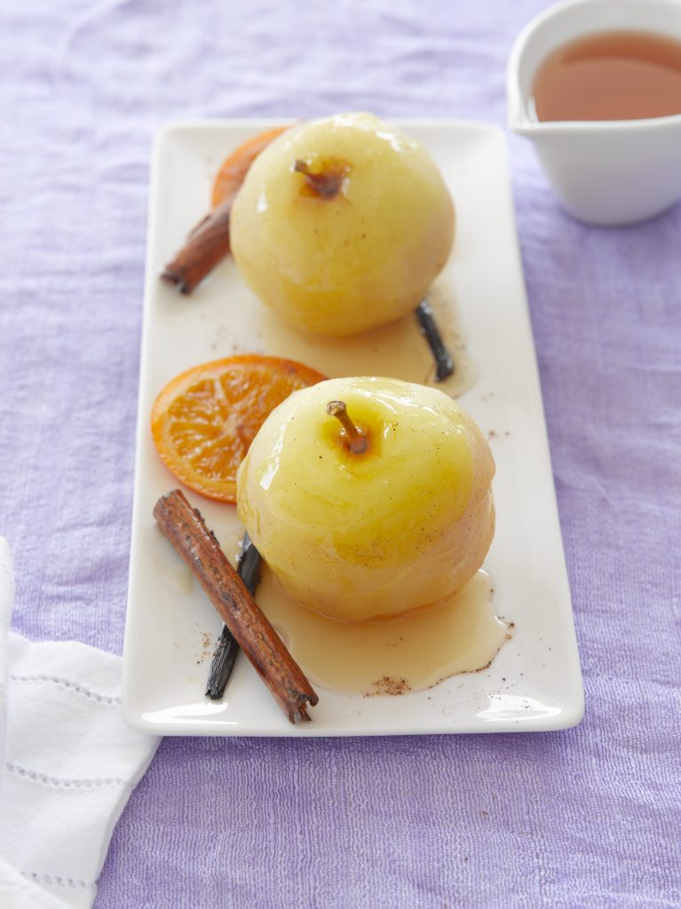 Cinnamon and mixed spice poached apples