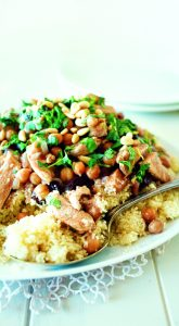 Cinnamon chicken with couscous