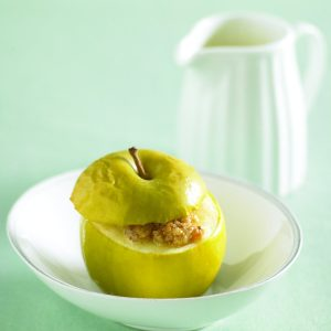 Cinnamon-stuffed apples
