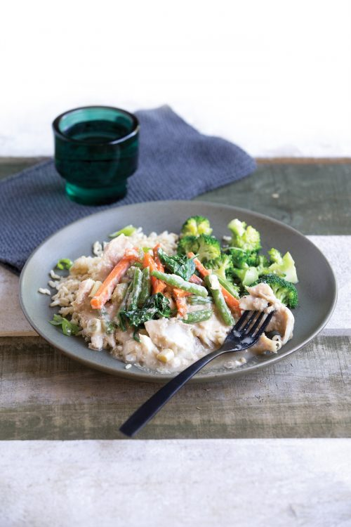 Baked chicken on rice healthy food guide for Baked fish and rice
