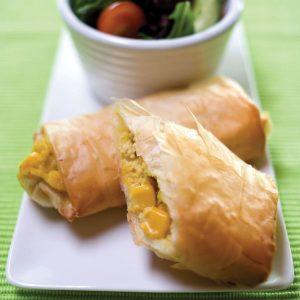 Corn and tuna parcels