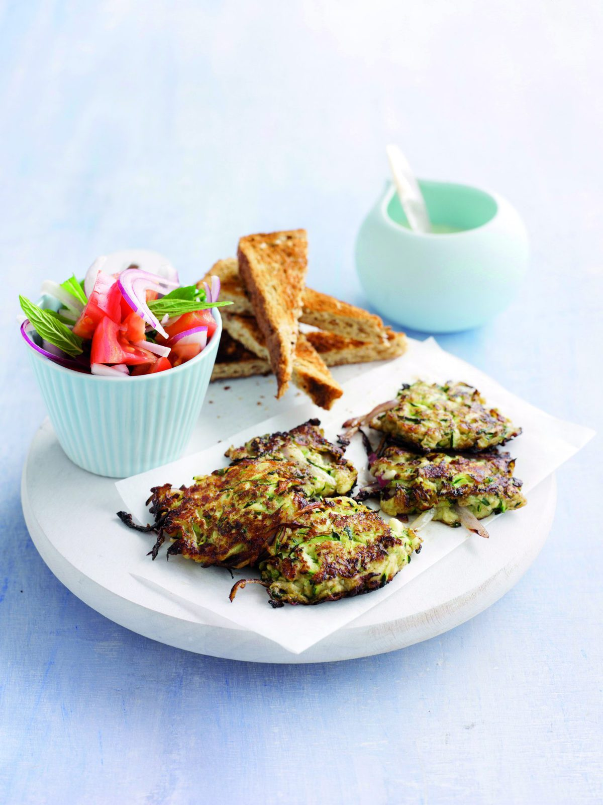 courgette and feta fritters  healthy food guide