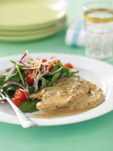 Creamy mustard pork steaks