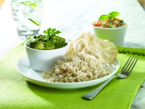 Creamy chicken and spinach curry