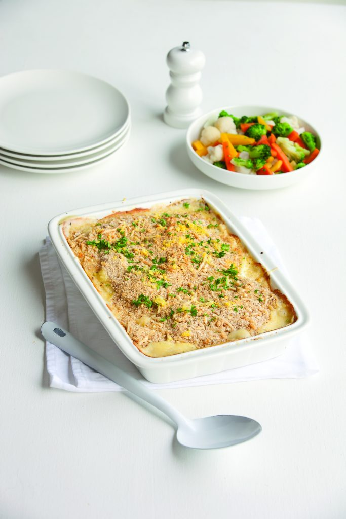 Creamy fish mornay