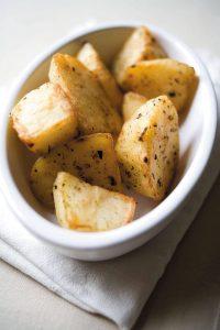 Crispy low-fat roast potatoes