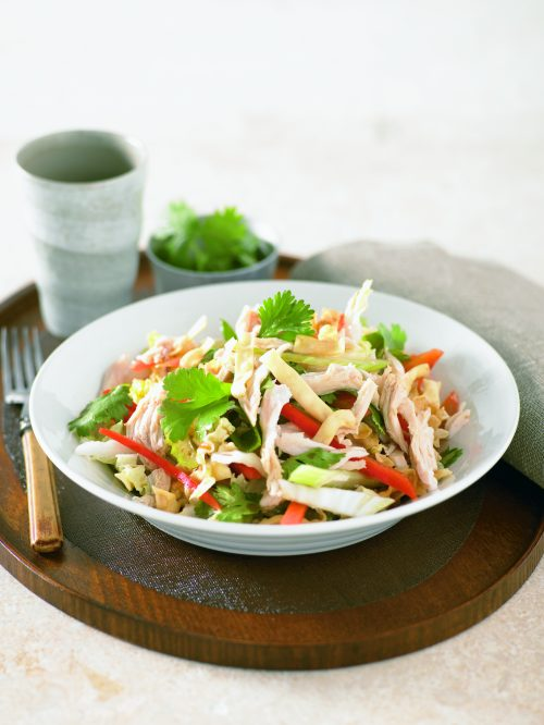 Crispy noodle and chicken salad