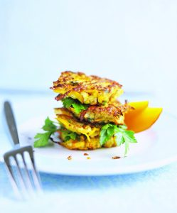 Crispy plantain fritters