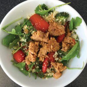 Crunchy couscous and tuna salad