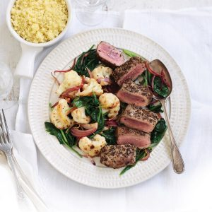 Cumin lamb with caramelised cauliflower