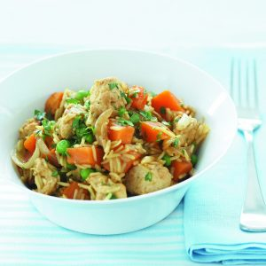 Curried chicken and kumara pilaf