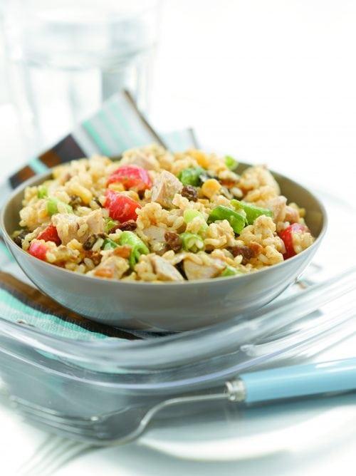 Curried chicken rice